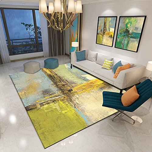 Oukeep Modern Minimalist Living Room Coffee Table Carpet Bedroom Bedside Mat Rectangular Home Entrance Mat Four Seasons