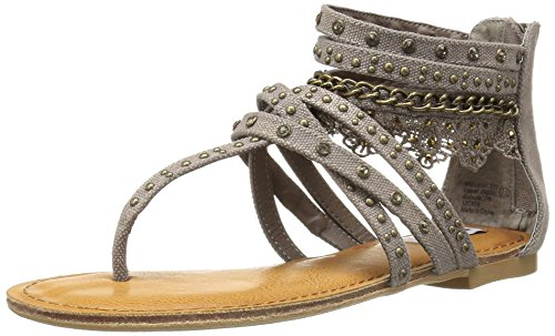 Not Rated Women's Wilma Gladiator Sandal, Taupe, 8 M US
