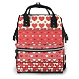 Varios patrones de amor creativos, bolsa de pañales para acampar, mochila de lona impermeable para computadora portátil, mochila de viaje personalizada, mochila para estudiantes, bolsa unive