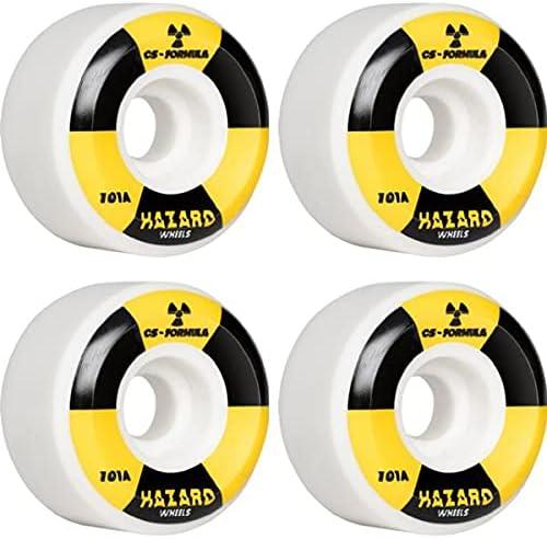 Hazard Mail order In a popularity Wheels CS Formula Radio White W Conical Active Skateboard