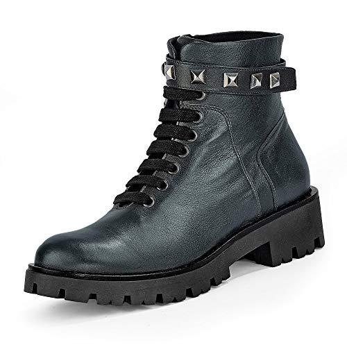 Marc Cain Damen Stiefeletten Combat Boots, Grau (Anthrazit 880), 38 EU