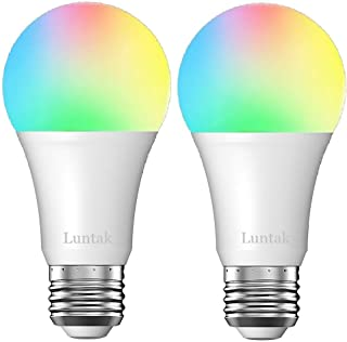 Smart Light Bulb LED Color Changing Wi-Fi Remote Control Compatible with Alexa Google Home