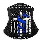 Increíble Delgada línea Azul, bendecidos Son los pacificadores, Polaina de Cuello sin Costuras, máscara Facial, pasamontañas, Bufanda, Bandana