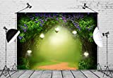 BELECO 7x5ft Enchanted Forest Backdrop Magic Forest with Road Fantasy Spring Landscape Photography Backdrop for Tinkerbell Party Baby Shower Wedding Kids Banner Photo Background Photo Booth Props