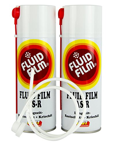 2x FLUID FILM AS-R Rostschutz Korrosionsschutz Hohlraumschutz 400 ml & Sonde