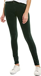 Ag Jeans Womens The Farrah Verdant Velvet High-Rise Skinny Ankle Cut, 25, Green