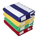 Sweet Needle Toallas de Playa Toallas de Playa Pack de 2 (76 x 152 cm) – 100% algodón Hilado en Anillo, Peso Pesado (450 g/m²) y Muy Absorbente