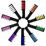 10 Stück Haarfärbekamm Temporäres Haarkreidefarbpulver mit Kamm Salon Haarmascara Crayo Temporäres Haarkreidefarbstoffpulver mit Kamm-Salon-Haar-Wimperntuschen-Buntstiften DIY