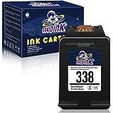 AAKIDINK Remanufacturados para HP 338 Negro Cartuchos de tinta para HP OfficeJet 100 7110 H470 K7100 7210 7310 Photosmart C3180 2575 C4180 C3100 8450 2610 8150 PSC 1510 2510 2355 Impresoras(1 Paquete)
