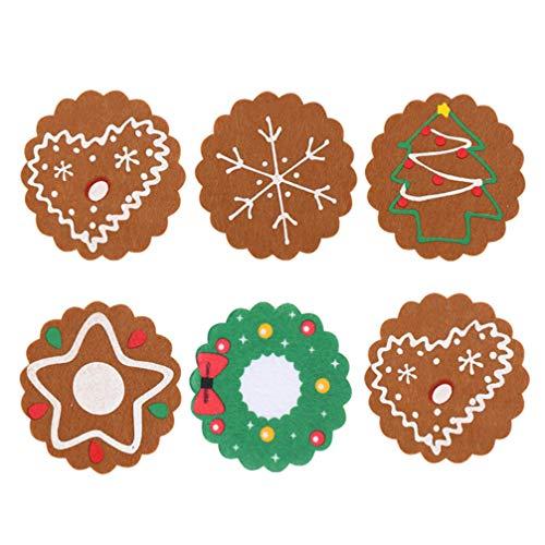 Amosfun 6pcs sottobicchieri di Natale Fiocchi di Neve Bevande sottobicchieri Decorazioni per la tavola di Cena di Natale