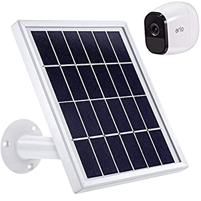 Blulu Solar Panel Only Compatible with Arlo Pro, Waterproof Arlo Accessory to Power Arlo Pro Outdoor Security Camera Continuously with Adjustable Mount Bracket, 12 Feet/ 3.6 m Cable