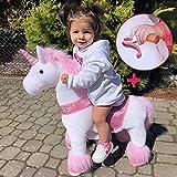 PonyCycle Officiel Classique U Série Balade en Peluche avec Une Licorne, Licorne Rose pour Les Enfants de 3 à 5 Ans, Petite Taille U302