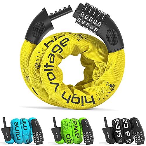 Candado Bicicleta con Código de Número y Cadena de Acero | Cerradura...