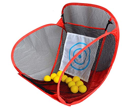 tjz The Golf Practice Net, Portable Folding Golf Cutting Rod Training Net Equipment Durable for Outdoor Indoor Sports Home Backyard Park