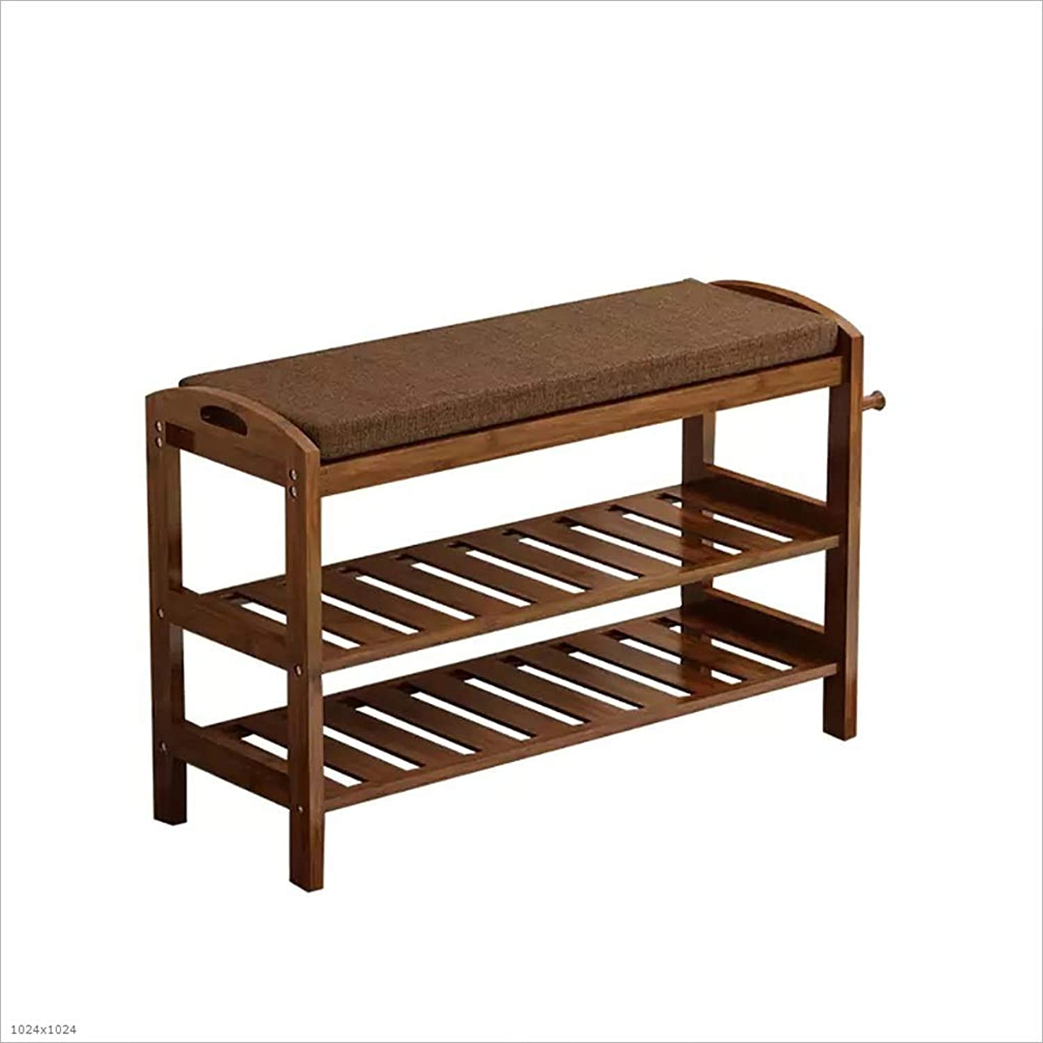 shoes Bench Organizing Rack shoes Rack 2 Layers dustproof Bamboo shoes Bench shoes Shelf (Size   51  29  50cm)