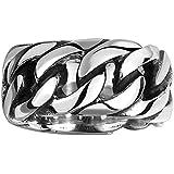 Gracefair Men's Women's Titanium Stainless Steel Chain Rotation Ring Cross Border Ring (11)
