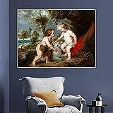 Ajwkob Kits de Pintura por números Pequeño Cristo Regalo de la Pintura al óleo de la Lona de DIY Digital para los niños, Estudiantes, Principiantes de los Adultos (30x40cm)
