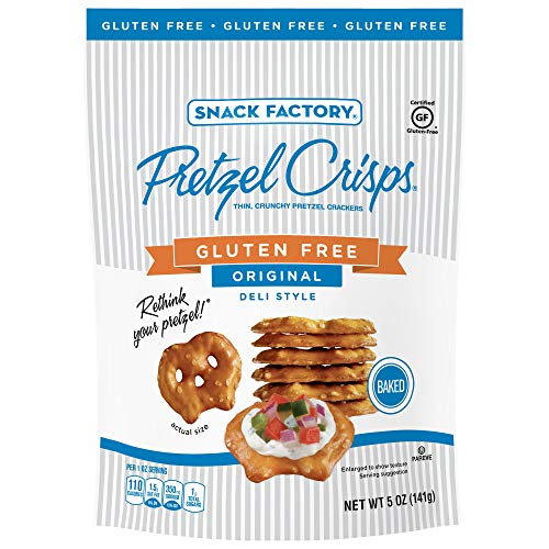 Snack Factory Pretzel Crisps Gluten Free, Original Flavor, 5 Ounce (Pack of 8)