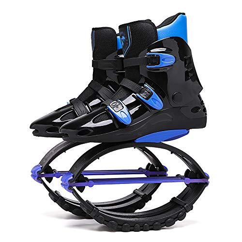 Rebound-Schuhe, Sprungschuhe FüR Erwachsene, Anti-Schwerkraft-Laufstiefel, HüPfstiefel, Springende Stelzen, Springende Sport-Fitnessschuhe, Innen- Und AußEnbereich (20-110 Kg),blackblue-39/41(XL)