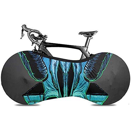 LisaArticles Fahrradreifen-Abdeckung,Goat Demons All See Eyes Stylische Aufbewahrungshüllen Für Mountainbikes Und Rennräder