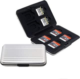 マイクロ SDカード 収納 16枚 ブラック アルミ メモリー カードケース 両面 収納 タイプ SDカード収納ケース 防塵 防水 防震 (SDカード収納)
