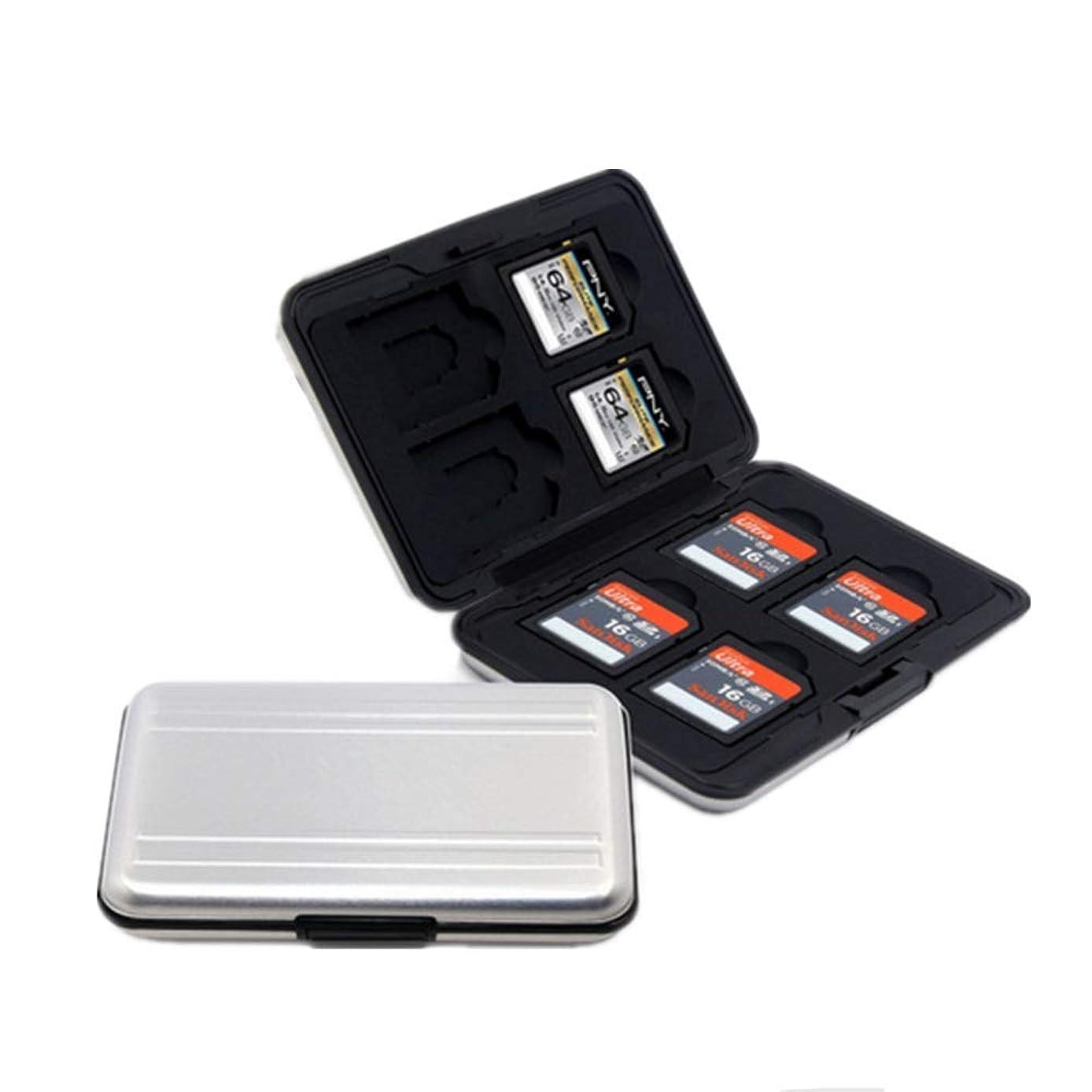ファウル期待して禁止マイクロ SDカード 収納 16枚 ブラック アルミ メモリー カードケース 両面 収納 タイプ SDカード収納ケース 防塵 防水 防震 (SDカード収納)