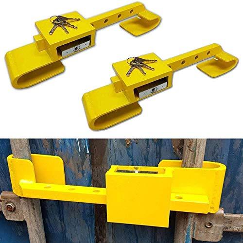 2x Container Schloss Sicherheitsschloss Diebstahlschutz Bügelschloss 4 Schlüssel