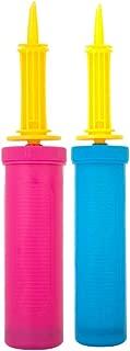 Wenosda 2 Pack Air Pump/Balloon Pump Hand Manual Inflator (Blue+Red)
