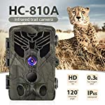 SUNTEKCAM Trail Camera 16MP 1080P Wildlife Camera Trap 2.0''LCD with Infrared Night Vision up to 65ft/20m IP65 Spray Waterproof for Outdoor Nature, Garden, Home Security 810A(Included SD card