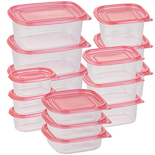 Rosenstein & Söhne Gefrierdosen BPA frei: 30-teiliges Frischhaltedosen-Set BASIC, BPA-frei (15 Dosen) (Frischhalteboxen)