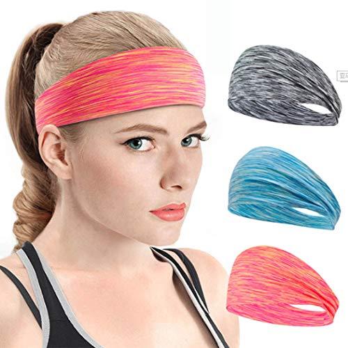 Ushiny Boho Geknoopt Hoofdbanden Elastische Turban Hoofd Wrap Tie Dye Gedrukt Haarwrap Yoga Twisted Hoofdband Criss Cross Haarband Accessoires voor Vrouwen en Meisjes (3st)