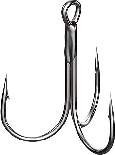 Pesca anzuelos Anzuelos de pesca clásico de alta resistencia de los trastos del gancho de tres garra con púas conveniente for el medio y los pescados grandes, 20 piezas Aparejo De Pescar