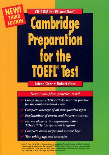 Cambridge Preparation for the TOEFL Test, 1 CD-ROM For Windows 95/98/NT4/2000 and Mac System 8.1 [import allemand]