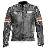 Price Right Cafe Racer Leather Jacket Men | Distressed Leather Jacket Men |