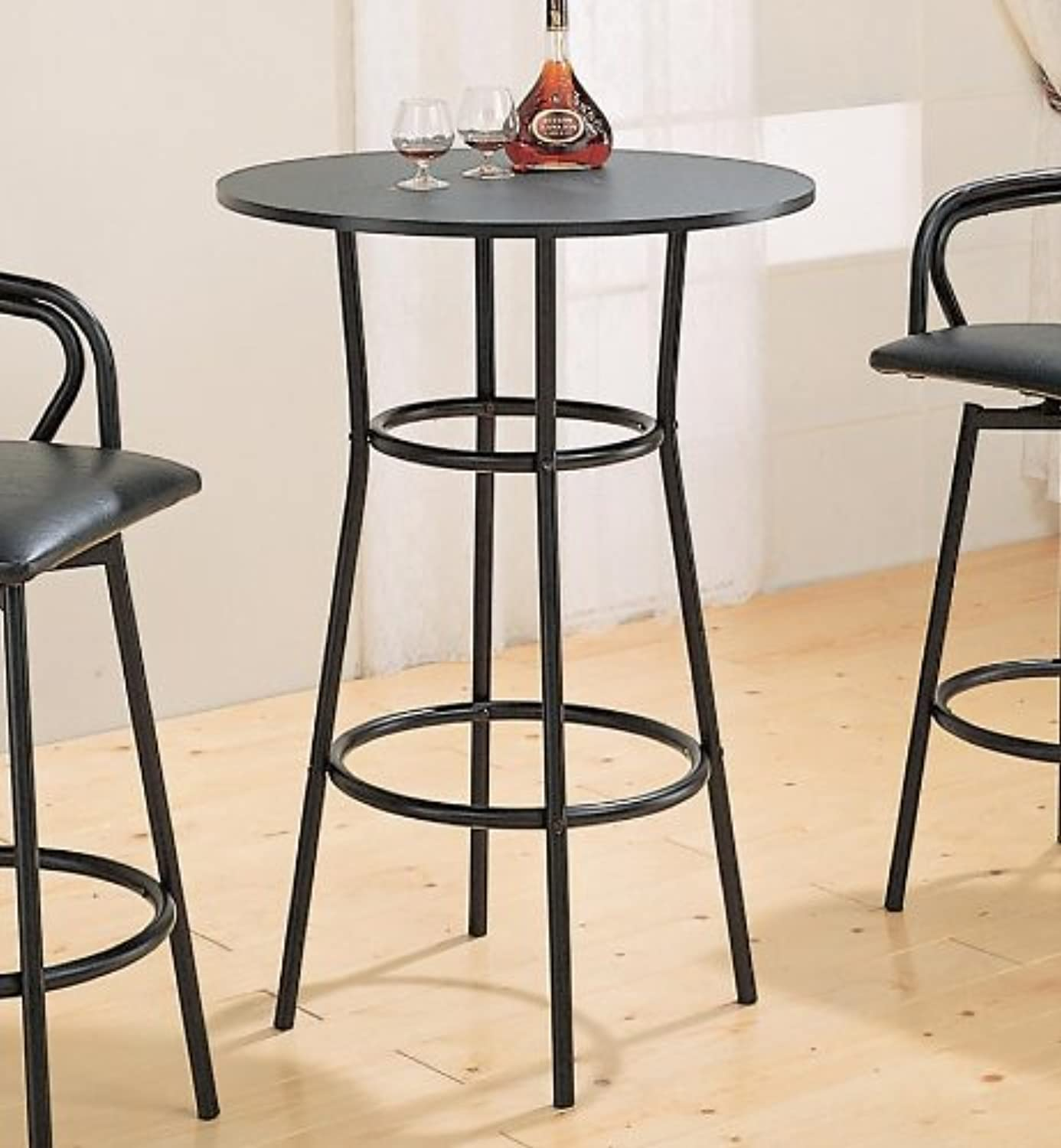 Coaster Dixie Contemporary Black Round Bar Table