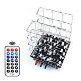 Etoput 4x4x4 LED 3D Light Cube, DIY Soldering Practice Project Electronics Learning Kit for Beginners