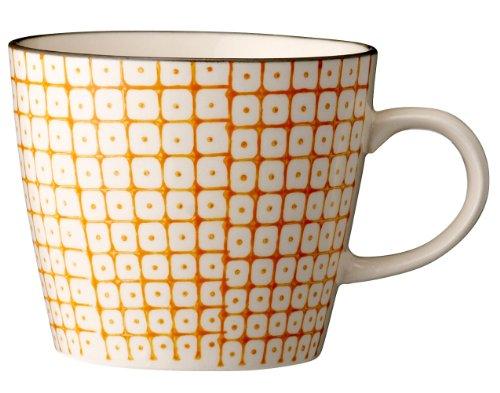 Bloomingville Tasse mit Henkel Carla Porzellan orange
