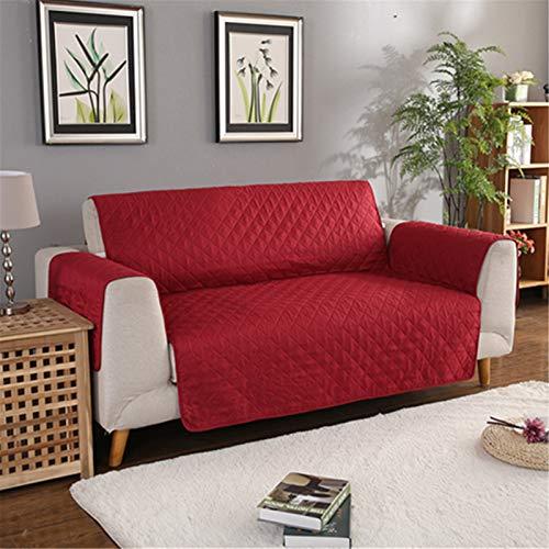 YMOMG Funda para sillón reclinable, fundas protectoras para muebles, impermeables, para mascotas, perros, niños, fundas para sofá (rojo, un asiento)
