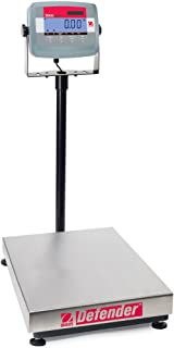 Ohaus 83998111 Defender 304 Stainless Steel Bench Scale, 30000g x 5g