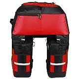 Lixa-da Multifunktion Fahrrad Gepäcktaschen Mit Regenschutz, 3 in 1 Reißfest 70L Groß Fahrradtaschen für den Rücksitz