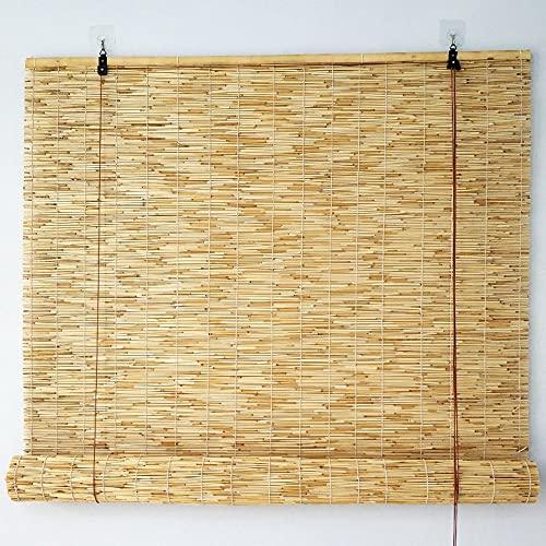 HXSM Estores De Bambú Natural Persiana Enrollable Exterior Cortina De Caña Opaca para Terraza Cortina De Madera para Puerta Personalizable 180x200cm