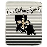 Pegasus Sports NFL Ultra Fleece State Stripe Blanket- New Orleans Saints, Team Color, 60x70
