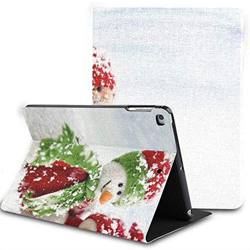 Ipad 9.7 Inch Case,Snowmen Series Two Smiling Friends Snow Slim Stand Hard Back Shell Protective Smart Cover Case With Auto Sleep/wake