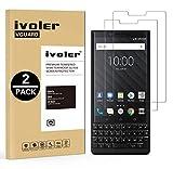 ivoler [2 Unidades] Protector de Pantalla para Blackberry Key2 / Blackberry Key 2, Cristal Vidrio Templado Premium