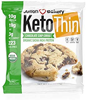 Sponsored Ad - Julian Bakery Keto Thin Chocolate Chip Cookie   Organic Sacha Inchi Protein   10g Protein   3 Net Carbs   7...