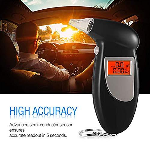 SayHia Auto Auto Digital LCD Smart Atemalkohol-Tester Für Sicherheit Alkoholtester Analyzer mit Schlüsselbund