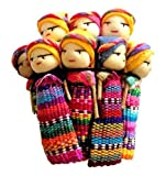 12 BIG HANDMADE FAIRTRADE GUATEMALTEKISCHEN WORRY DOLLS 5cm