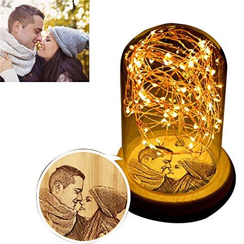 Foto personalizada Luz de noche romántica Luz de cristal LED Luz Noct