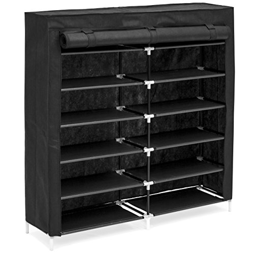 Best Choice Products 6-Tier 36-Shoe Portable Home Shoe Storage Rack Closet Organization System w/Fabric Cover - Gray