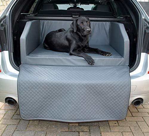 Mayaadi Home Hundebett Kofferraum Bett Travel Autohundebett Schutzdecke Kunst Leder Autositz Grau M (100x70x38cm)